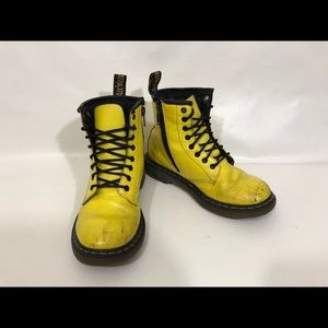 Doc Martens Yellow Kids Boots US Size 1